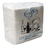 Durasoft Dinner White 2 Ply Napkin